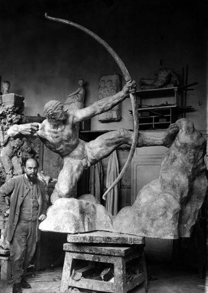 布德尔与他的作品《赫拉克利斯》