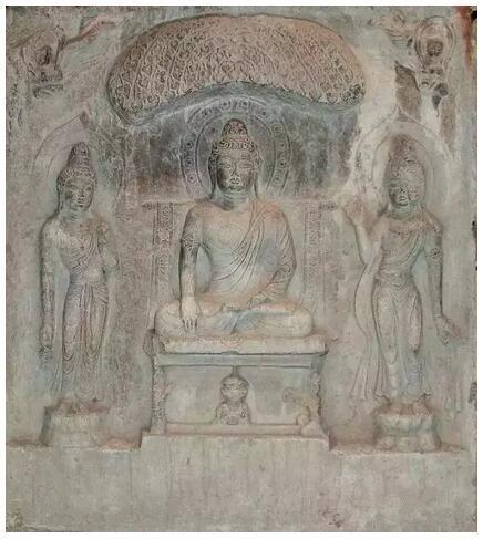 唐代 8世纪 宝庆寺如来三尊佛龛