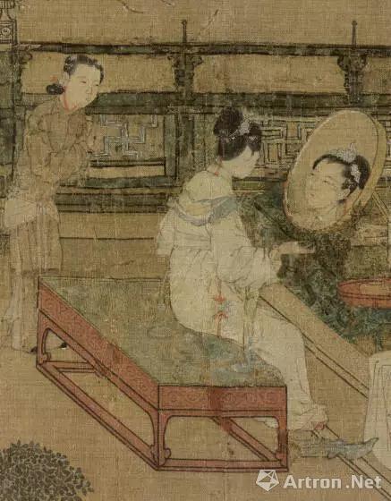 宋 苏汉臣 《靓妆仕女图》(局部)