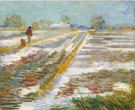 特朗普向古根海姆美术馆提出租借的文森特-梵-高的《雪景》(1888)