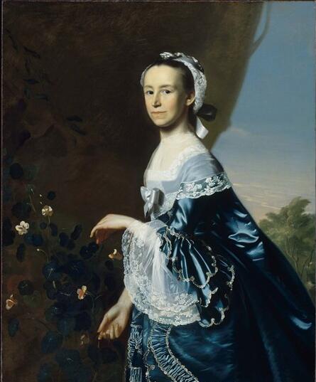 辛格莱顿《詹姆斯・华伦夫人》。图/取自波士顿博物馆官网。