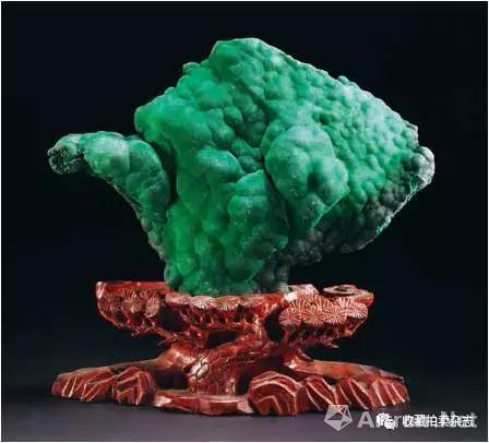 """图3 大冶孔雀石""""蘑菇云"""""""