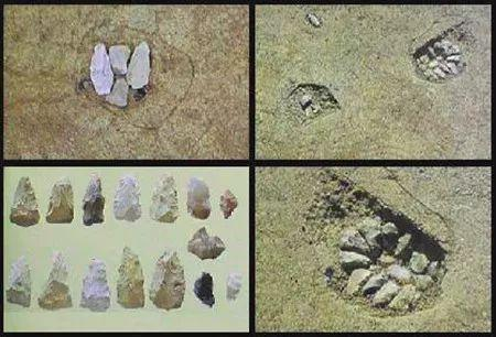 藤村发掘的旧石器