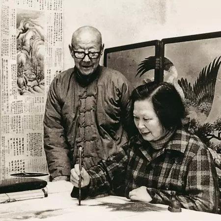 张伯驹、潘素夫妇作画