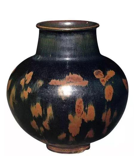 北宋 黑釉褐斑罐