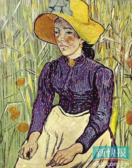 麦前的农妇