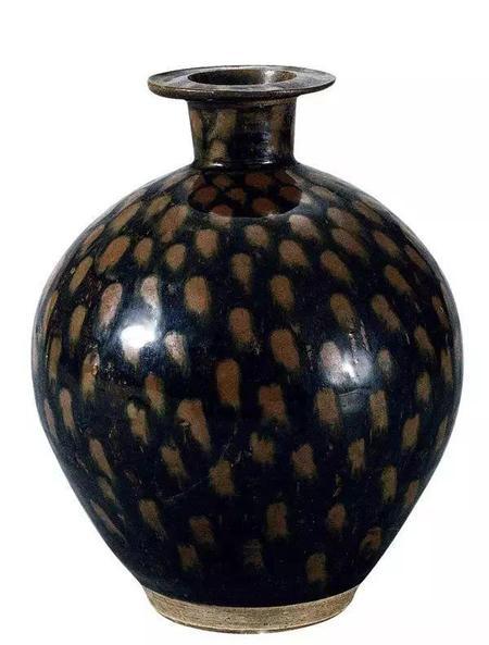 北宋 黑釉铁锈斑瓶