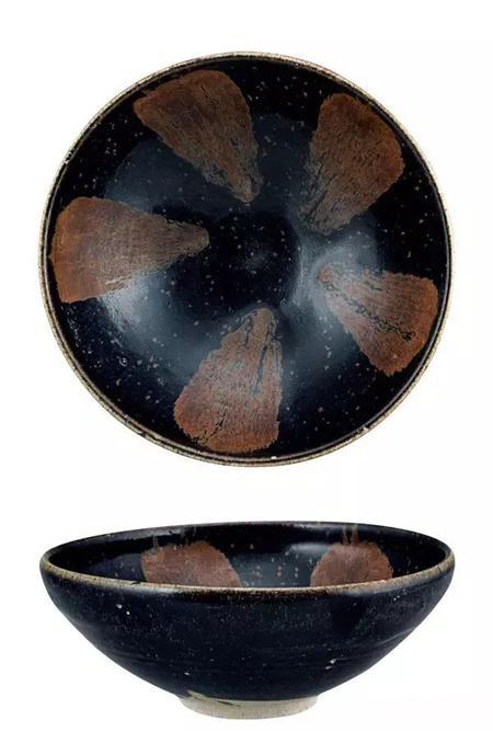 金代 黑釉铁锈斑碗