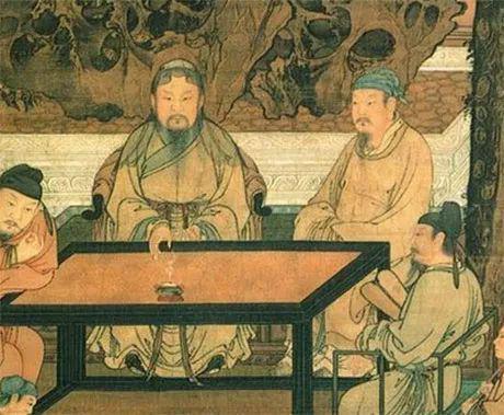 宋 《十八学士图》局部 现藏台北故宫博物院