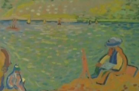 安德烈·德兰的《马蒂斯在科利尤尔》拍出了620万美金