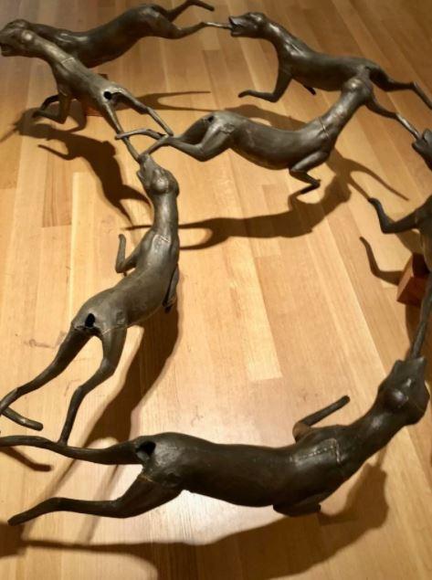 苏富比的Bruce Nauman的狐狸圆圈作品