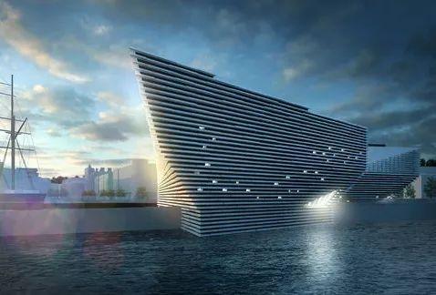 维多利亚与阿尔伯特博物馆预计在2018年于苏格兰邓迪开设的新场馆效果图.