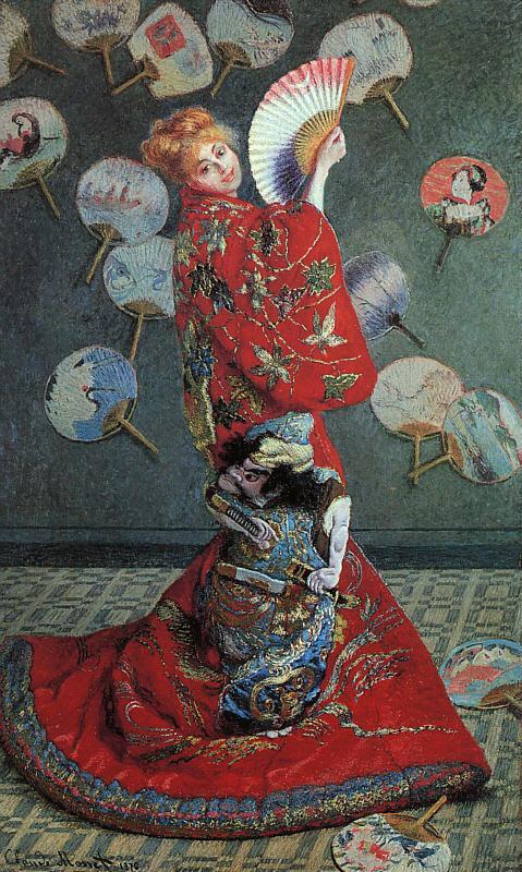 Claude Monet, Camille Monet in Japanese Costume (1876)