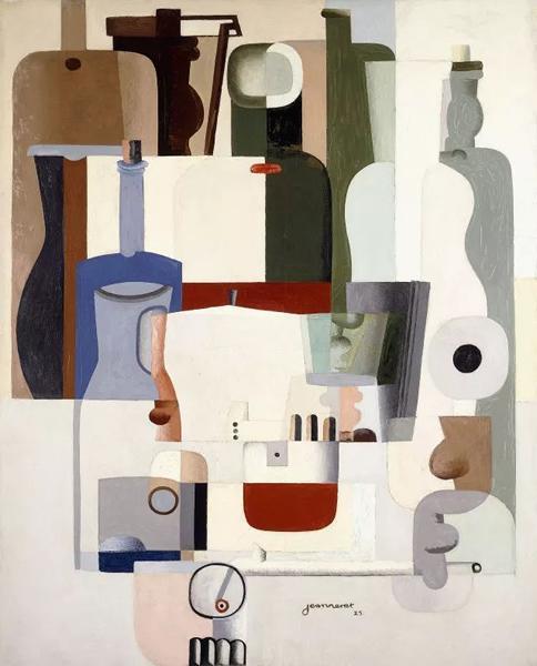 纯粹主义时期的代表作 《静物》, 1925