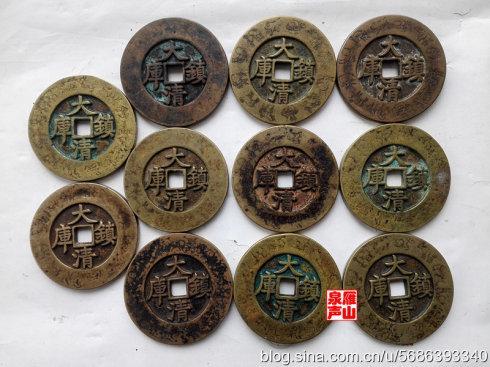 2、银质,缘刻十二生肖镇库钱,直径70毫米左右。与上图铜