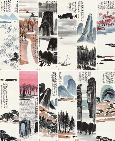 北京保利的齐白石《山水十二条屏》9.3亿成交,创中国艺术品最高成交价