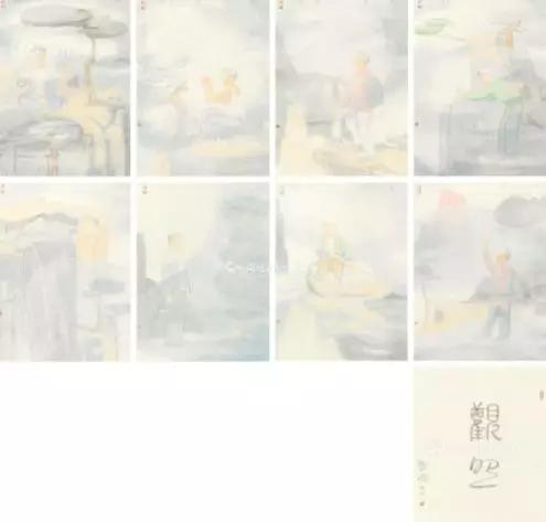 田黎明 2017年作 观照 册页55×41cm×8
