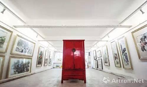 西安湘子庙画廊街,并非真正意义上的商业画廊,多出售本土传统字画