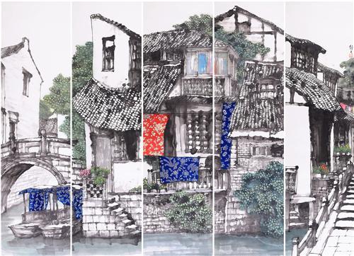 《家园》180×48cm×52015年