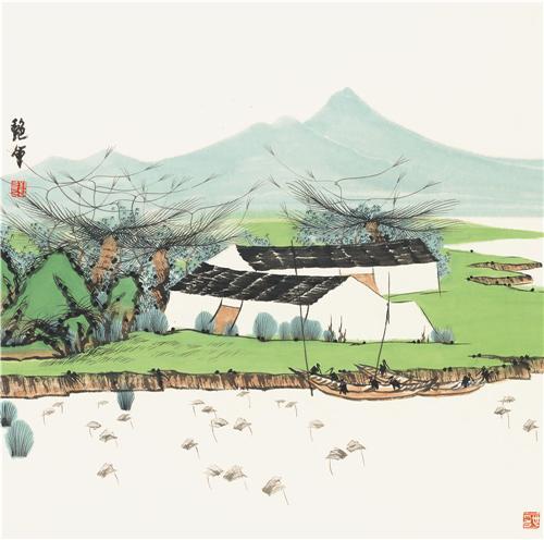 武陵源系列之《清夏潺湲》68cm×68cm