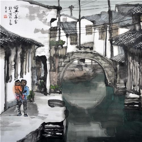 《绍兴华舍》68×68cm 2012年