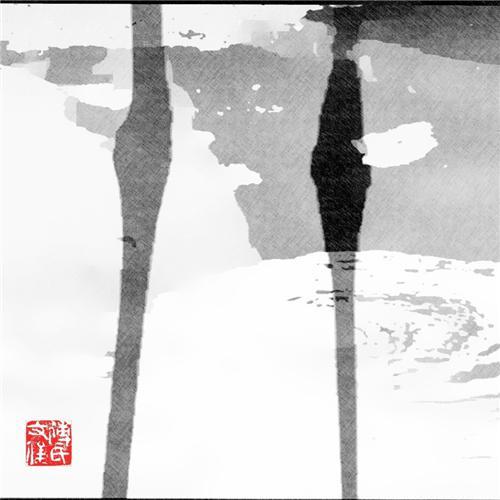 傅文俊数绘摄影作品《立于天地间》