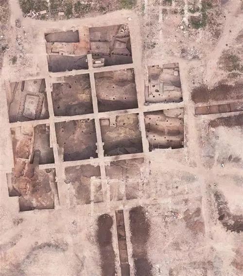 庙台子商周遗址航拍图