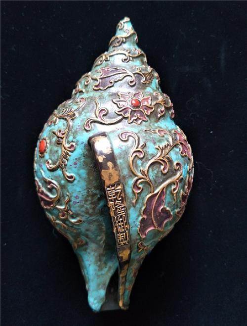 图1:古铜彩八宝嵌法螺主图