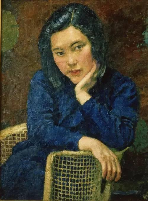 徐悲鸿画第二任妻子廖静文1943年油画徐悲鸿纪念馆藏