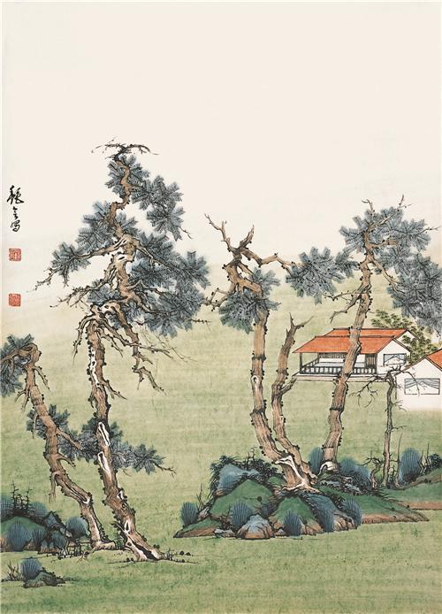 武陵源系列之《碧草芳洲》68cm×45cm