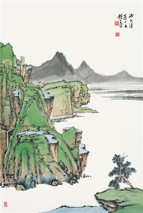 武陵源系列之《湘水浮春》68cm×45cm