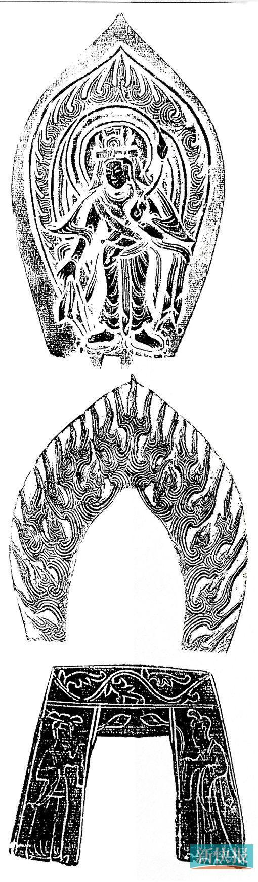 北魏造像的火焰背光及纹饰。