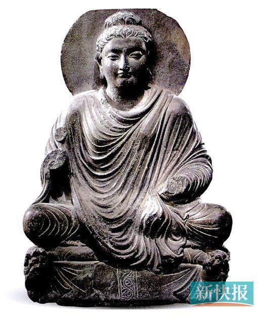 1-2世纪犍陀罗石雕佛坐像
