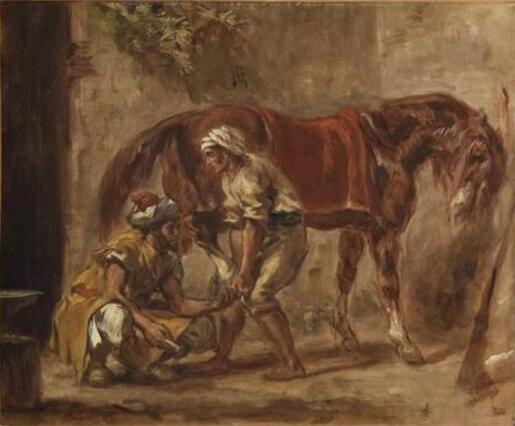 《马蹄铁匠》(Le Maréchal-Ferrant),欧仁・德拉克罗瓦(Eugène Delacroix),巴黎,卢浮宫博物馆 Photo (C) RMN-Grand Palais (musée du Louvre) / Philippe Fuzeau