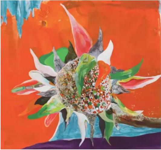 桑蒂·莫什,《森林》,2015,布面油画,73.6 x 91.5 cm