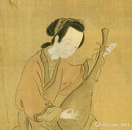 清 华喦 《桃柳仕女图》(局部)