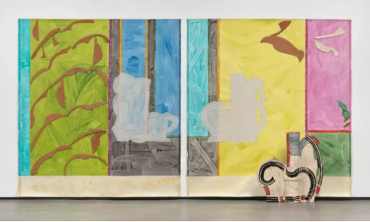 贝蒂·伍德曼(Betty Woodman), 《Paola's Room(diptych)》, 237.5×440.1×29.8cm,2011