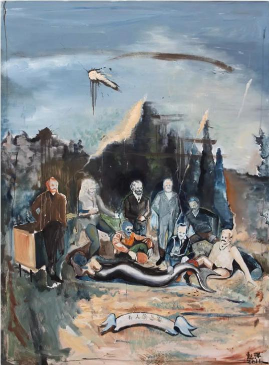 图注:赵洋,《美人鱼之家(系列F)》, 2011,150×200cm,布面油画
