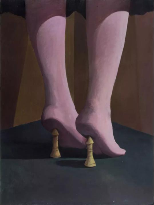 蔡泽滨,《支点》,布面丙烯,120 x 90 cm,2017
