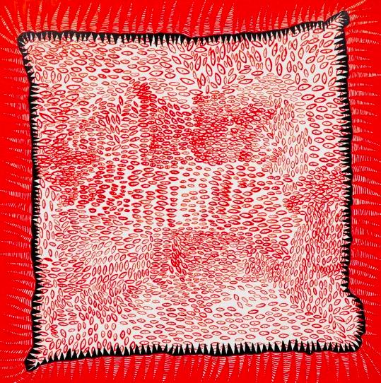 草间弥生,《Meditation》,2017。图片:致谢富艺斯