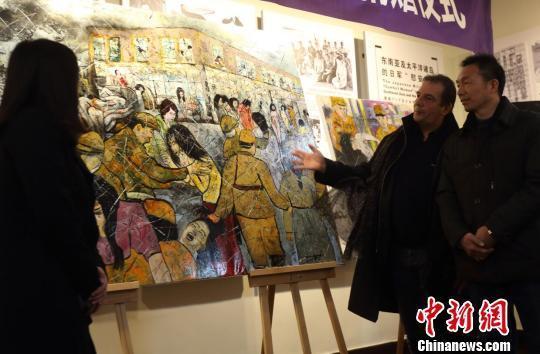 法国画家参观慰安所旧址月余 绘制油画赠予南京
