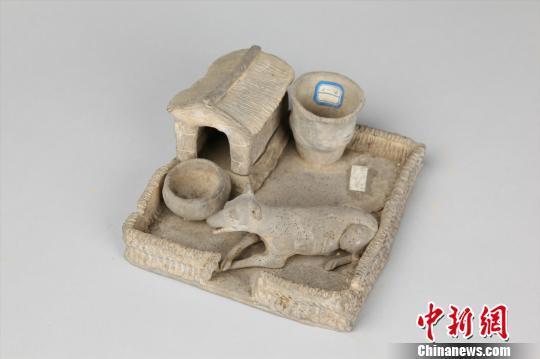 图为汉代陶狗圈。重庆中国三峡博物馆供图