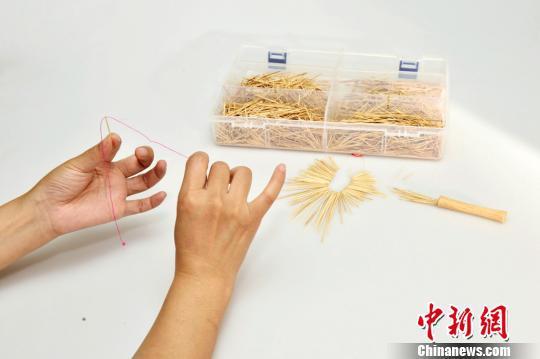 皇城台出土的骨针。 陕西省考古研究院 供图