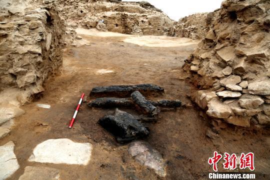 图为皇城台主门道入口处。陕西省考古研究院 供图