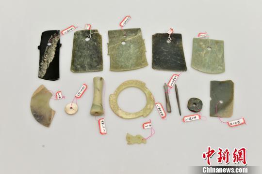 皇城台出土的玉器。 陕西省考古研究院 供图