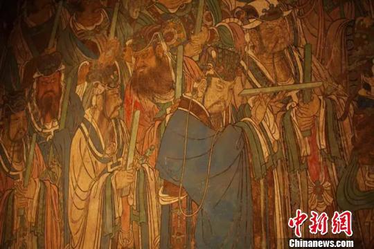 比永乐宫的建筑更为珍贵更为引人注目的,是杰出的壁画艺术。山西省旅发委供图