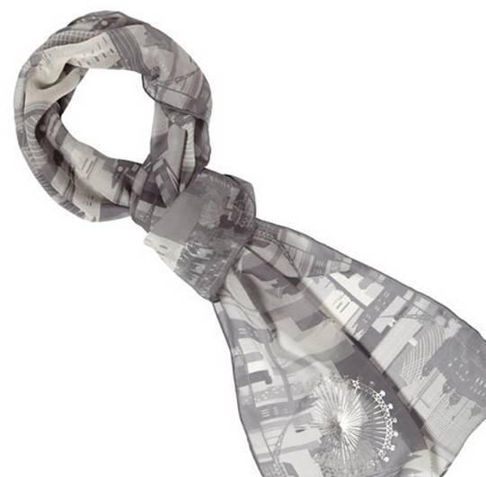 伦敦天际线丝巾