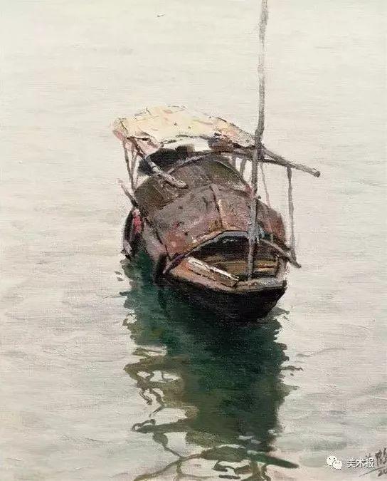 黄鹤 听水系列 30×24cm 油画