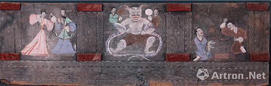 偃师新莽空心砖壁画上的《览镜图》(张应桥供图)