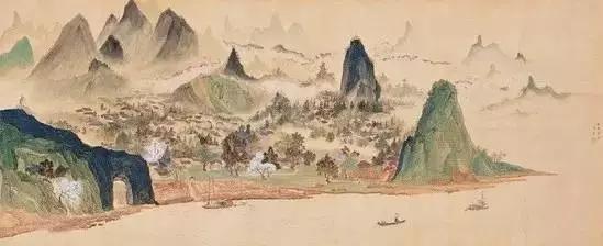 《临吴历雪山图》